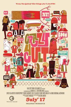 ".Chris Lee ""Crazy 4 Cult"" Poster"