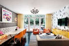 Space planning/ furniture arragement ideas.  Chelsea Townhouse by David Howell Design