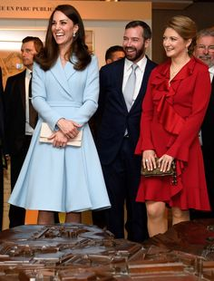DOC w/Duchess Stephanie & Hereditary Grand Duke Guillaume of Luxembourg @ Drai Eechelen Museum during a one day visit on May 11, 2017 in Luxembourg. The Duchess will attend a series of engagements to celebrate the cultural and historic ties between the UK and Luxembourg and the official commemoration of the 1867 Treaty of London, which confirmed Luxembourg's independence and neutrality. - The Duchess of Cambrid