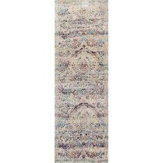 Contessa Silver/ Plum Runner Rug (2'7 x 10'0) | Overstock.com  Shopping - $127