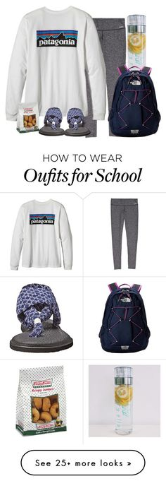 """""""School"""" by hailstails on Polyvore featuring sanuk and The North Face"""