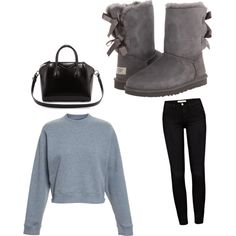 Untitled #222 by evanmonster on Polyvore featuring polyvore fashion style Acne Studios Frame Denim UGG Australia Givenchy