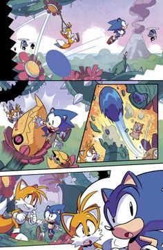 Beautiful Sonic comic art by Tyson Hesse for Archie's new Sonic: MEGA DRIVE #1.  If you want to see more like this, be sure to get out there and support it this summer!