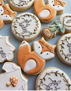 Boho chic fox baby shower cookies royal icing cookies baby s Baby Cookies, Fox Cookies, Baby Shower Cookies, Royal Icing Cookies, Cookies Et Biscuits, Sugar Cookies, Heart Cookies, Valentine Cookies, Baby Shower Biscuits
