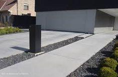 Afbeeldingsresultaat voor voortuin ideeën met oprit beton