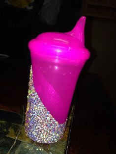 swarovski covered baby sippy cup by AllThingsBling2014 on Etsy