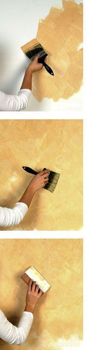 DIY:  Tuscan Faux Paint Technique - easy tutorial on applying this great paint technique to your walls.