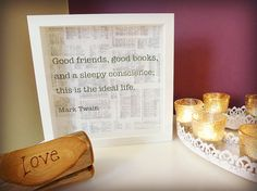 Mark Twain Framed Quotation  Good friends good by MyMumAndMeQuotes