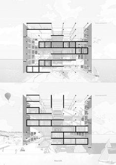 Paisajes arquetípicos: conoce los 10 proyectos del Workshop EA USS con Barozzi/Veiga,[E4] Universidad Central. Image Cortesía de Facultad de Arquitectura USS