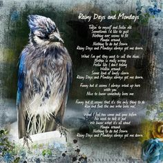 "Lyrics to Rainy Days and Mondays. Created using ""To Say Thank You { Collection }"" by The Urban Fairy ( #theurbanfairy ) of #theStudio http://www.digitalscrapbookingstudio.com/store/"