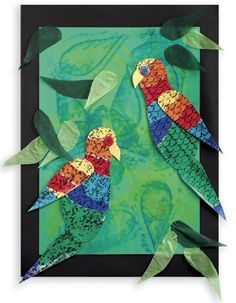 Teach art and nature with Australian Lorikeets made with vibrant colours from students. Kindergarten Art Projects, Classroom Art Projects, Art Classroom, Primary School Art, Art School, Australian Art, Australian Animals, Kunst Der Aborigines, 3rd Grade Art