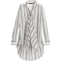 White House Black Market Mixed Stripe Blouse ($98) ❤ liked on Polyvore featuring tops, blouses, petite tops, long sleeve blouse, white house black market tops, striped top and petite blouses