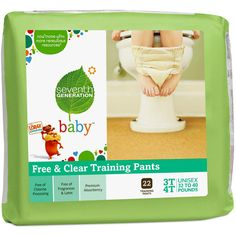 Seventh Generation training pants pull up for easy toilet training and help to transition your toddler to becoming completely dry. Hello Charlie - Seventh Generation Training Pants 3T-4T, $25.95 (http://www.hellocharlie.com.au/seventh-generation-training-pants-3t-4t/)