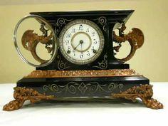 """1904 Ansonia """"Belgium"""" Mantle Clock - UsedClockParts.com"""