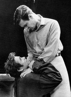 """James Dean and Louis Jourdan in the Broadway play """"The Immoralist"""", Human Poses Reference, Pose Reference Photo, Body Reference, Anatomy Reference, Art Poses, Drawing Poses, Gay Couple, Couple Posing, Pier Paolo Pasolini"""
