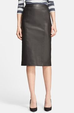 Leather Pencil Skirt @nordstrom