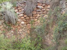 Restos de una antigua calera en medio del barranco