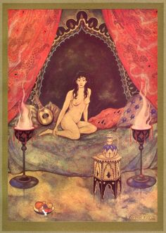 A naked girl in the pavilion - 1001 Nights