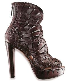 59d1e1a76887 I found these Azzedine Alaia interesting because of the steampunk nod done  all in leather instead of any metal. The gear tooth fans are a creative  thought ...
