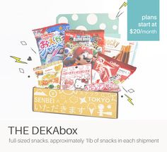 Sign up to receive a surprise box of Japanese goodies every month! | www.skoshbox.com