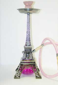 New Pink Eiffel Tower Hookah Shisha Hookah Smoke, Hookah Pipes, Glass Pipes And Bongs, Glass Bongs, Smoke Tricks, Hookah Lounge, Up In Smoke, Relax, Water Pipes