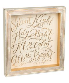 Look what I found on #zulily! 'Silent Night' Framed Box Sign #zulilyfinds