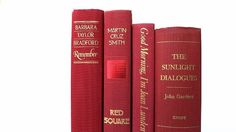 Truly Red Vintage Books / Book Decor/ Decorative by redladybugz
