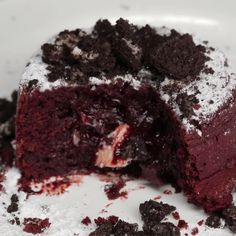 Cookies N Cream Red Lava Dream Cake. Decadent red velvet lava cakes with a gooey melted cookies and cream center.