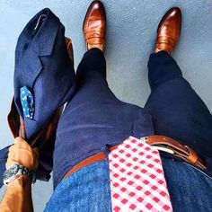 Denim shirt and summer suit from @rule_of_thumbs featuring @paulevansny shoes