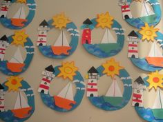 Best ocean art for kids crafts 31 ideas Boat Crafts, Ocean Crafts, Camping Crafts, Summer Crafts For Kids, Summer Art, Art For Kids, Summer Ideas, Toddler Crafts, Preschool Crafts