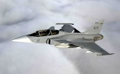 Royal Swedish Air Force Saab JAS39 Gripen E two seat version of the fighter.