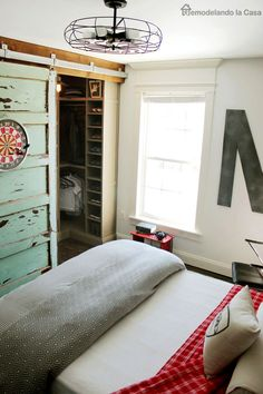 03 industrial vintage teen boy bedroom with a gorgeous comfy bed ...