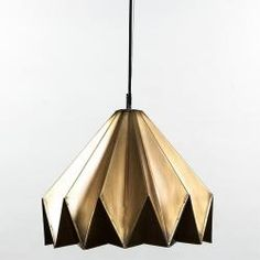 Origami Pendant  Small $180  Antique Brass only  Width: 570mm Height: 320mm Cord: 1200mm Globe: 60W ES Max. Globe sold separately.