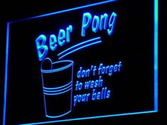Beer Pong Game Bar Pub Club Decor Neon Light Sign On/Off Switch 7 Colors