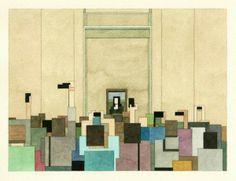 8-bit watercolors of famous paintings