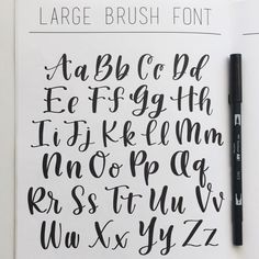 ― Studio 80 Designさん( 「Warming up today with the Large Brush Font from my Learn to Letter Guide and my trusty black…」
