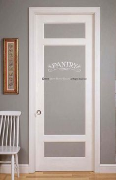 Pantry Decal - Add some vintage charm to your pantry door! Looks great over a doorway too. Dimensions: Small 3.5 tall x 12 wide Medium 4.5