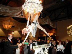 aerialist - champagne server