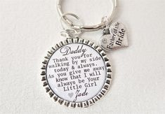 FATHER of the BRIDE Personalized Dad Keychain by MyBlueSnowflake, $16.50