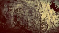 old cave handwritings