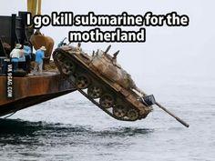 In Soviet Russia tank kills submarine Memes Humor, Funny Jokes, Funny Pranks, Funny Laugh, Funny Cats, Funny Stuff, Funny Videos, Viral Videos, Tumblr Funny