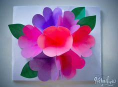 Helmihytti: DIY - Kukkakimppukortti äitienpäiväksi Diy, Paper, How To Make, Bricolage, Do It Yourself, Homemade, Diys, Crafting