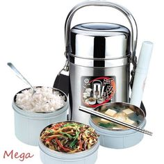 Bento Stainless Steel Lunch Jar Silver Thermal Vacuum Food Container Hot or Cold MegaDeal http://www.amazon.com/dp/B00KBYJQBE/ref=cm_sw_r_pi_dp_qVo1vb14TYVP5