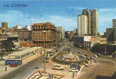 Cuatro Caminos 1974. A Coruña. Galicia. Spain.
