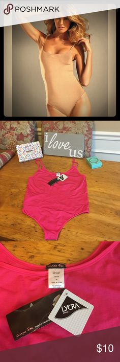Brand New Shape fx hot pink bodysuit! NWT. Shape wear! Gorgeous hot pink brand new body suit made by shape fx. Sized XL but due to spandex will fit any size. Comes packaged as shown in beautiful gift box. Smoke free home. Only taken out of package for this photo. Bundle with other items to save! Shape Fx Intimates & Sleepwear Shapewear