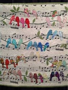 Periwinkle Quilting and Beyond: Quilts from Houston This is Birds by Cecilia Koppmann from Argentina. Periwinkle Quilting and Beyond: Quilts from Houston This is Birds by Cecilia Koppmann from Argentina. Crazy Quilting, Patchwork Quilting, Applique Quilts, Bird Applique, Applique Ideas, Crazy Patchwork, Embroidery Designs, Crewel Embroidery, Quilting Designs