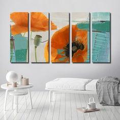 Ready2HangArt 5-Piece 'Painted Petals XXXIII' Canvas Art Set