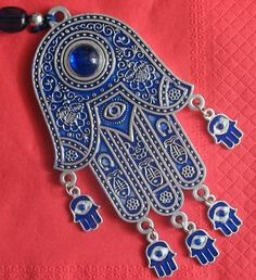 Hamsa Wall Hanging With Small Hamsas Evil Eye Kabbalah