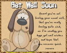 Great card for anyone feeling sick and miserable. Free online Dog Get Well Wishes ecards on Everyday Cards Get Well Soon Funny, Get Well Soon Quotes, Morning Hugs, Morning Wish, Get Well Wishes, Wishes For You, Feeling Sick, How Are You Feeling, Healing Wish