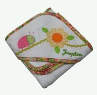 Hooded ladybug #towel has embroidered name to make this super cute